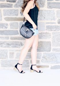 Style Diary :: Black Peplum Cami & Gorgeous Summer Sandals