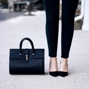 Style Diary :: Dark Green for Fall & the Perfect Black Pumps