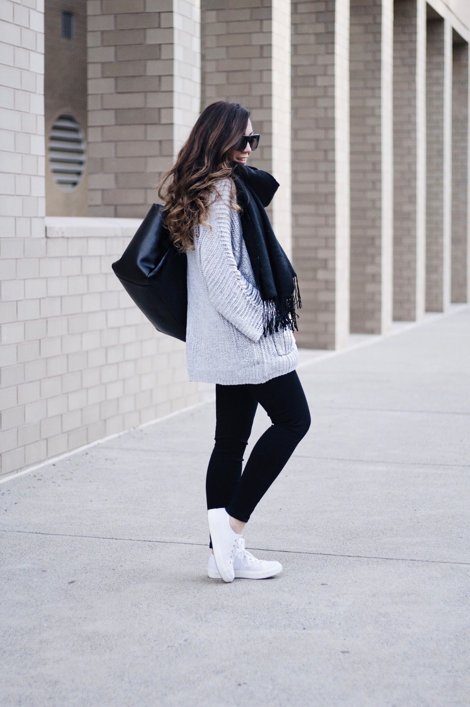 Comfy Casual Black & Grey