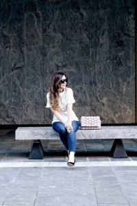 Style Diary :: Cream Peplum Blouse & Bordeaux Velvet Pumps