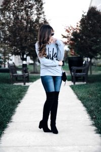 Style Diary :: A Fun Sweatshirt & Suede OTK Boots