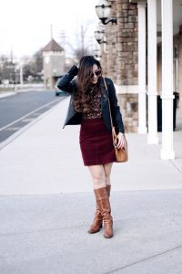 Style Diary :: Camel, Burgundy, & Florals