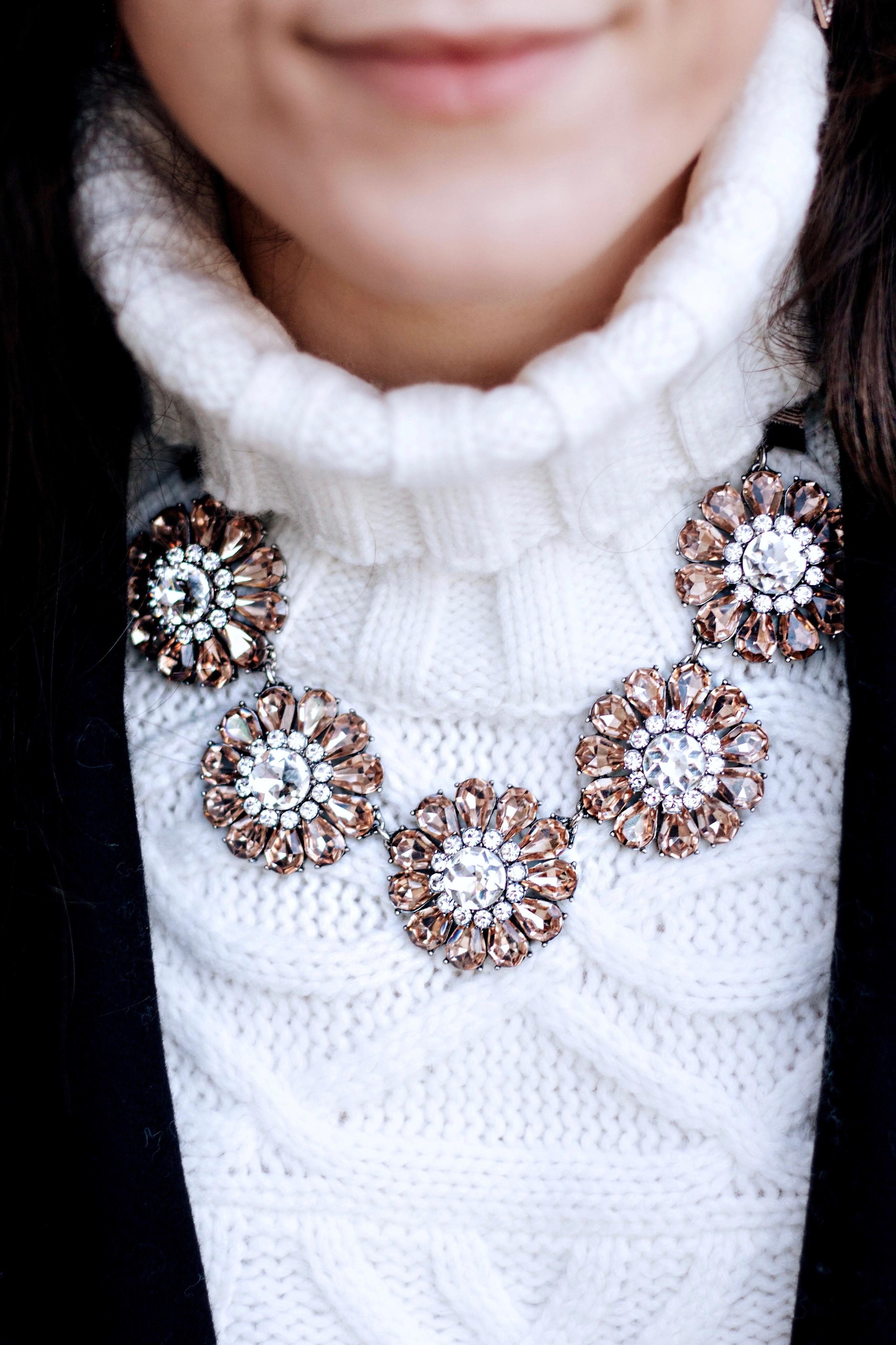 Sparkly Blush Statement Necklace