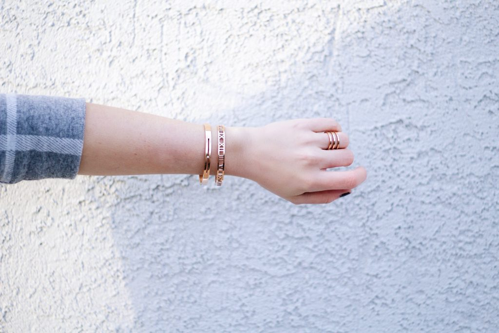 Rose Gold Bangle and Ring