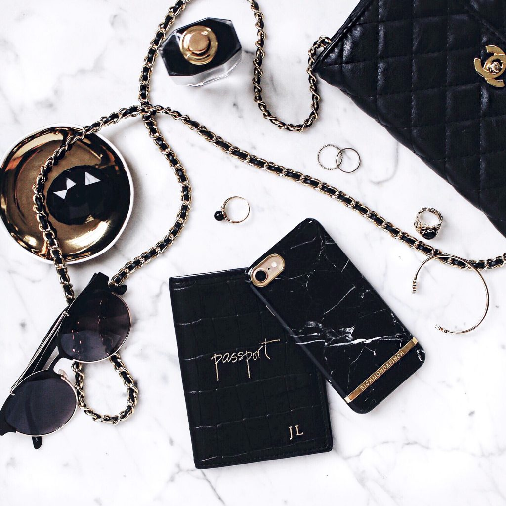 Black and Gold Flatlay