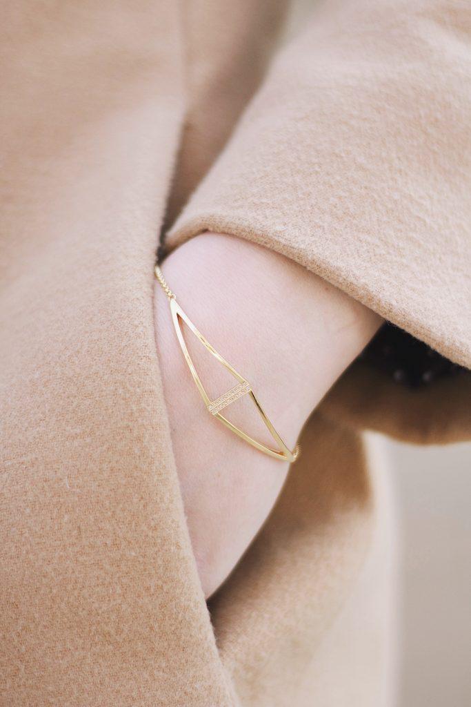 Thomas Sabo Gold & Diamond Triangle Bracelet