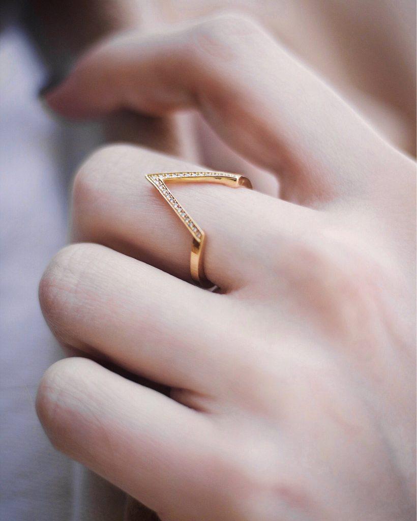 Thomas Sabo Gold & Diamond Triangle Ring