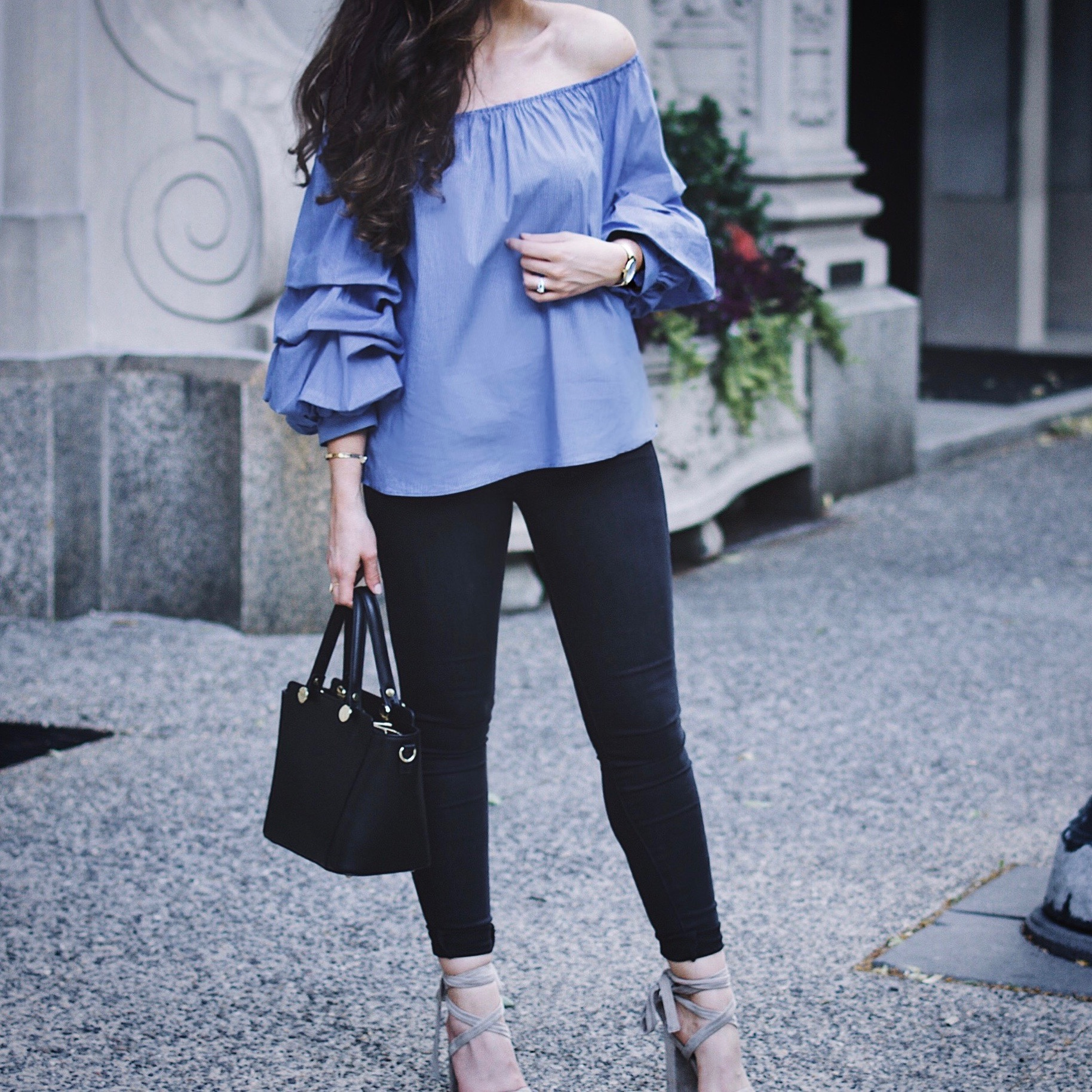 SK-II #changedestiny | The Expiry Date | Zara Top, Mott & Bow Denim, Lulu Milano Bag, Steve Madden Lace Up Christey