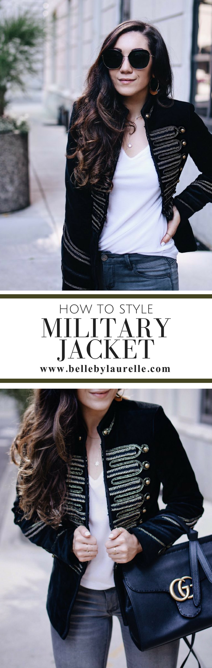 Belle by Laurelle How to Style Military Jacket Fashion Blog