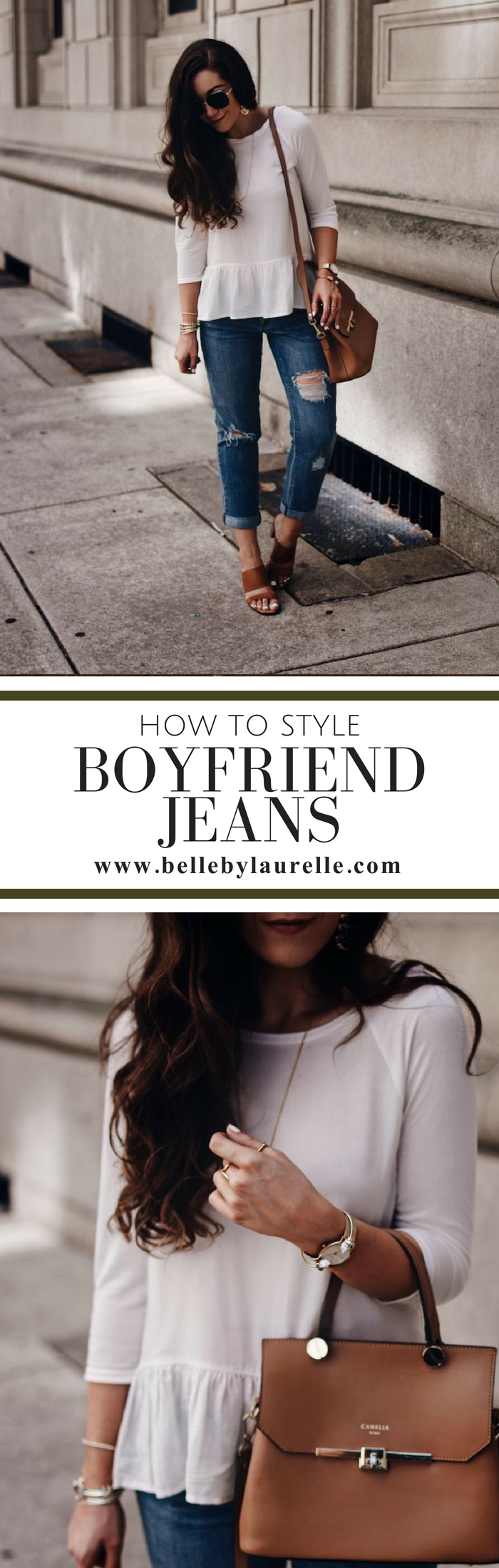 Belle by Laurelle How to Style Boyfriend Jeans