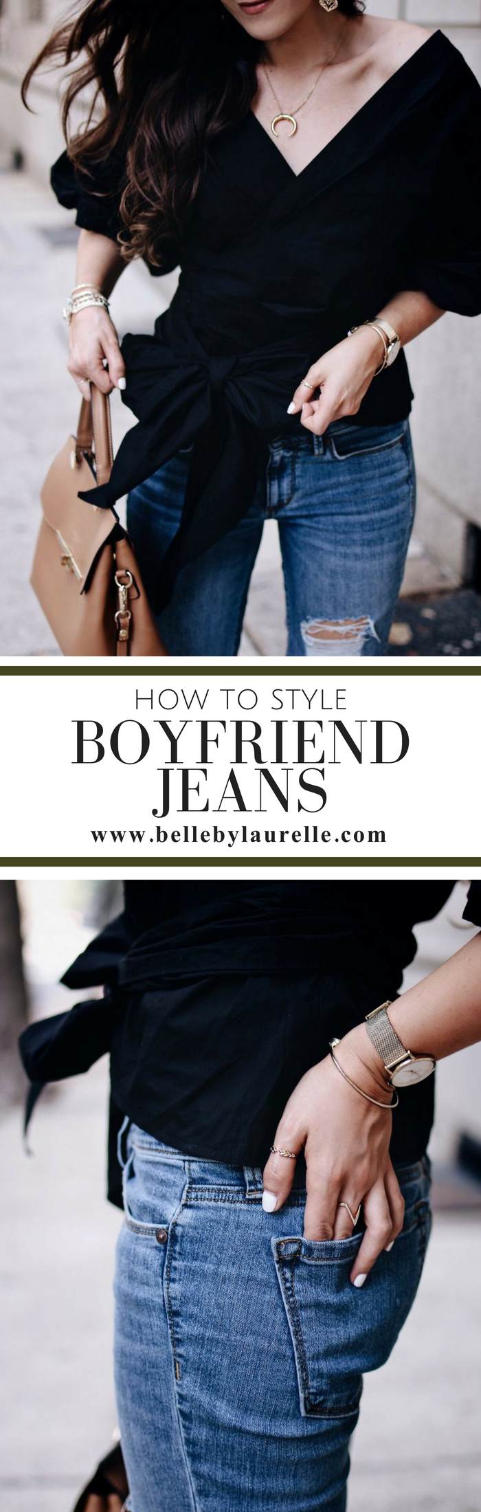 Belle by Laurelle Blog How to Style Boyfriend Jeans