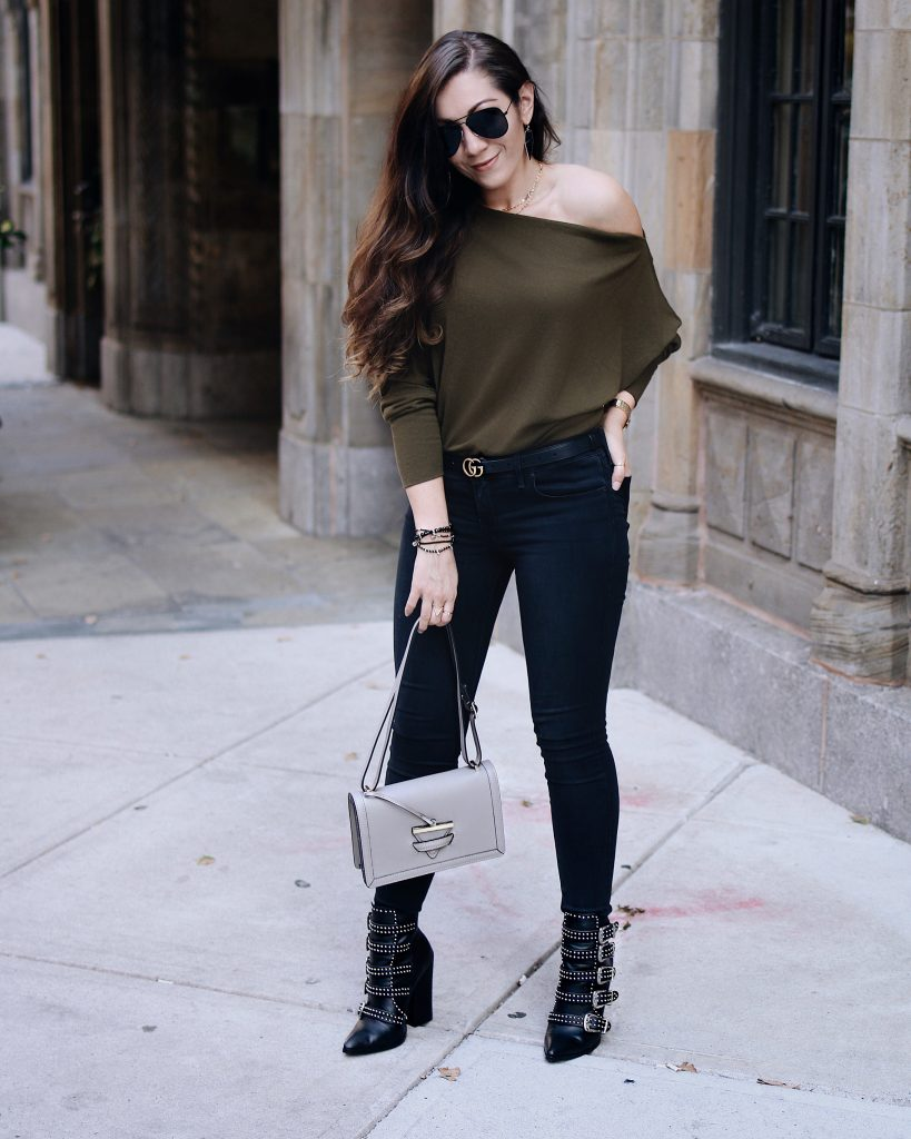 Macy's, Beautiful Boots, Gucci Belt, and a Fall Sweater Look!