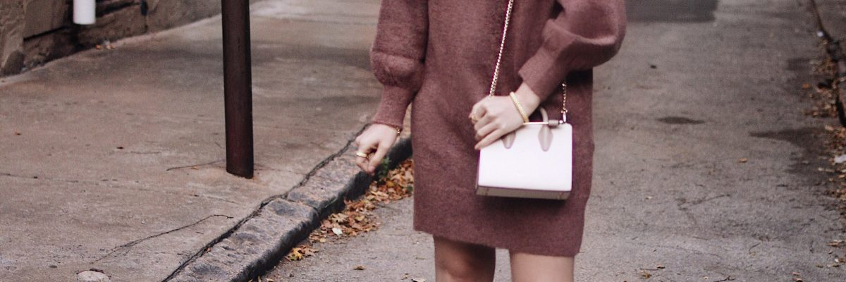 AW17 | The Coziest Sweater Dress & Star Studded Pumps