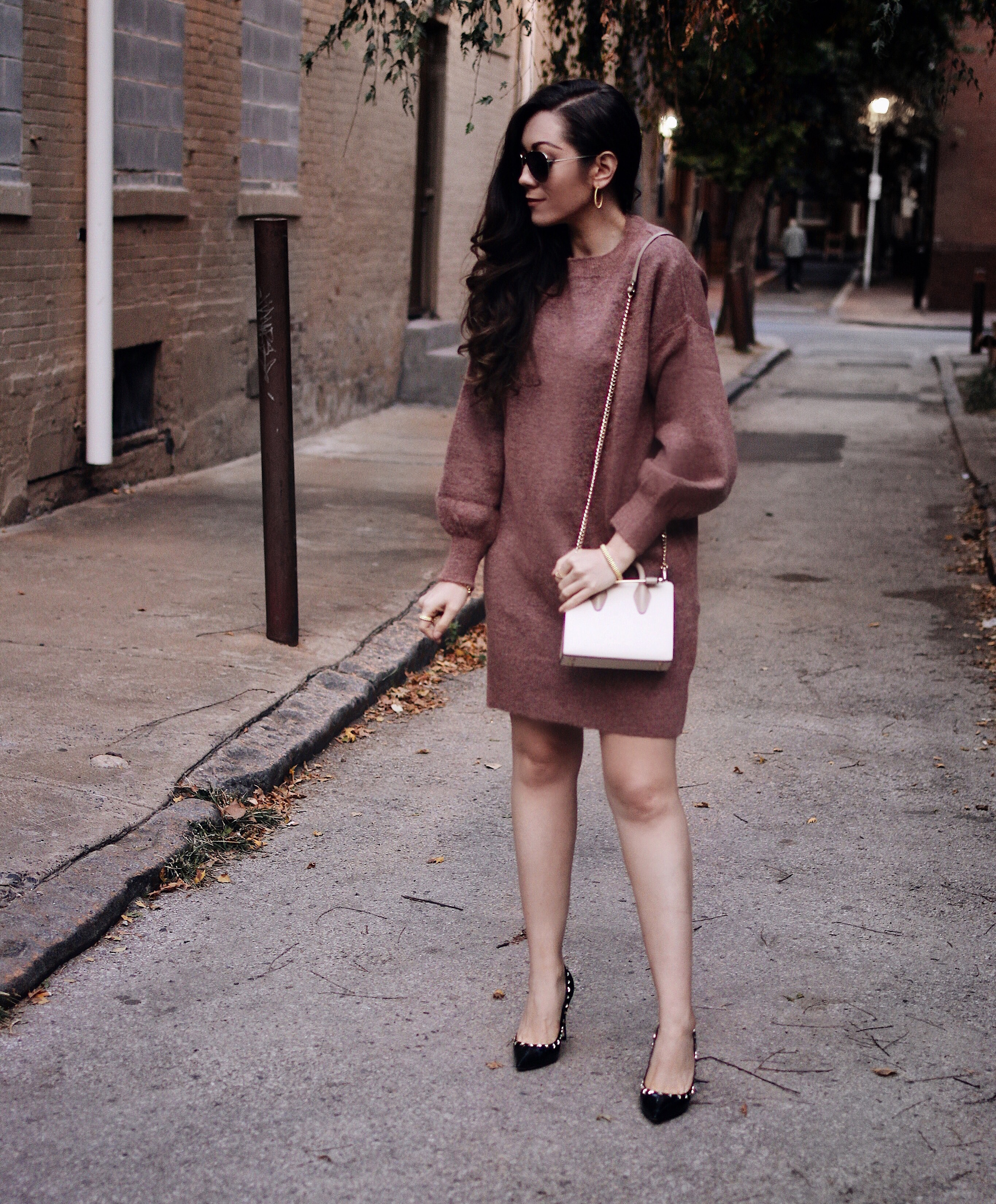 The Coziest Sweater Dress & Tips for Fighting through Discouragement! | Feat Red Valentino & Strathberry