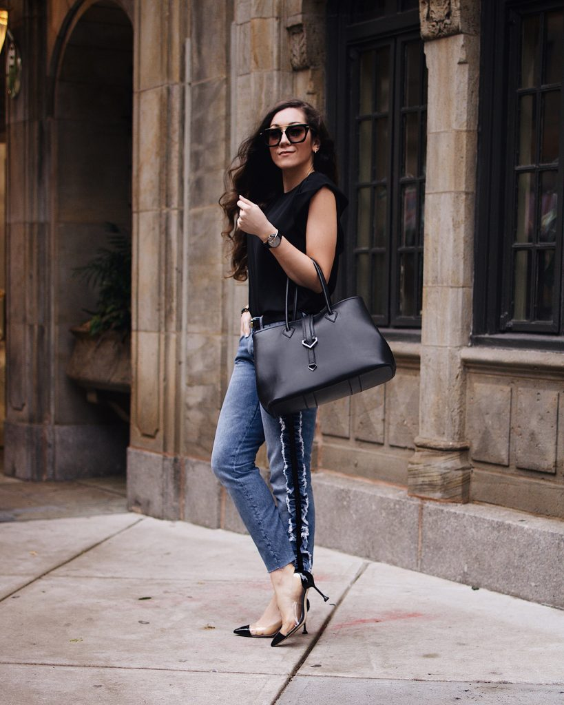 Vivienne Hu Accessories Line & Ruffled Boyfriend Jeans