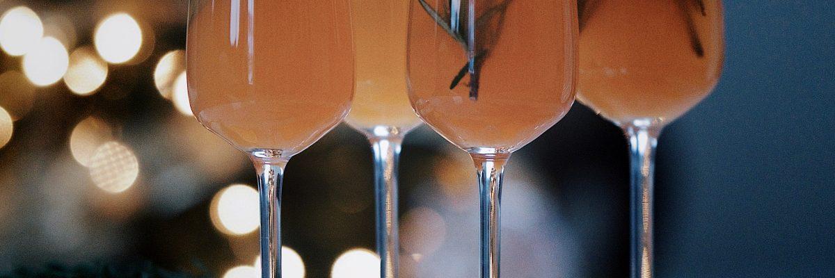 Rosemary Blood Orange Sparkling Cocktail
