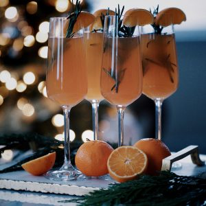 Rosemary Blood Orange Sparkling Cocktail