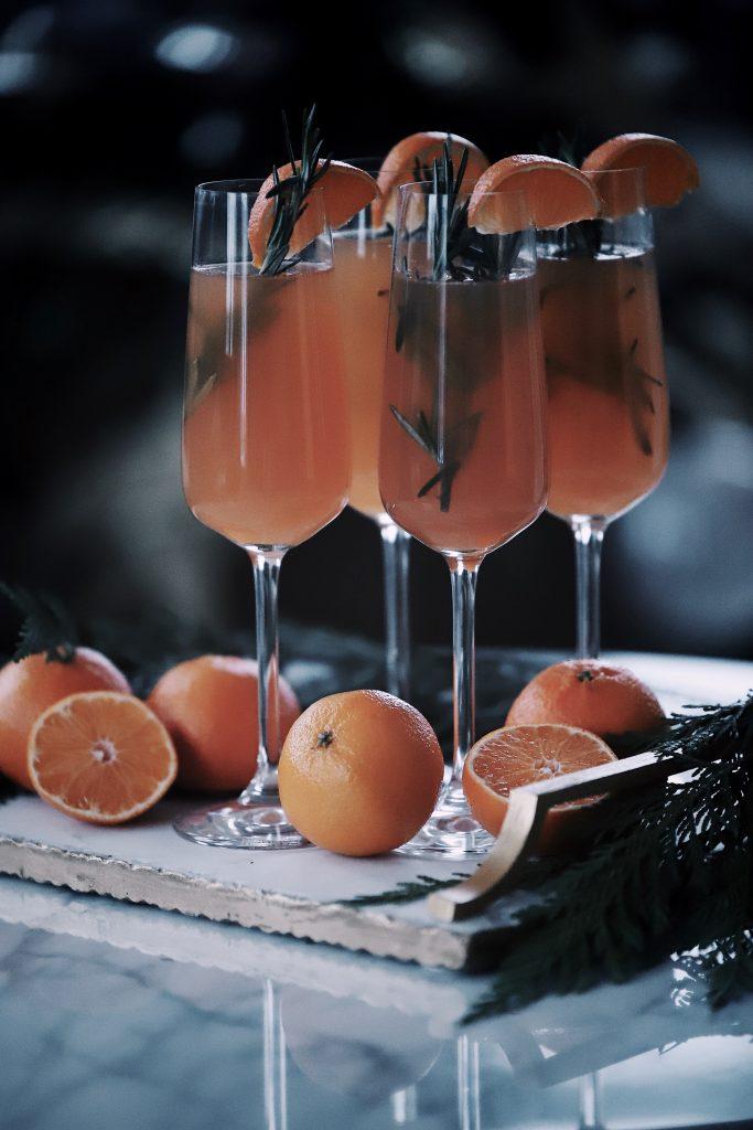 Rosemary Orange Sparkling Cocktail