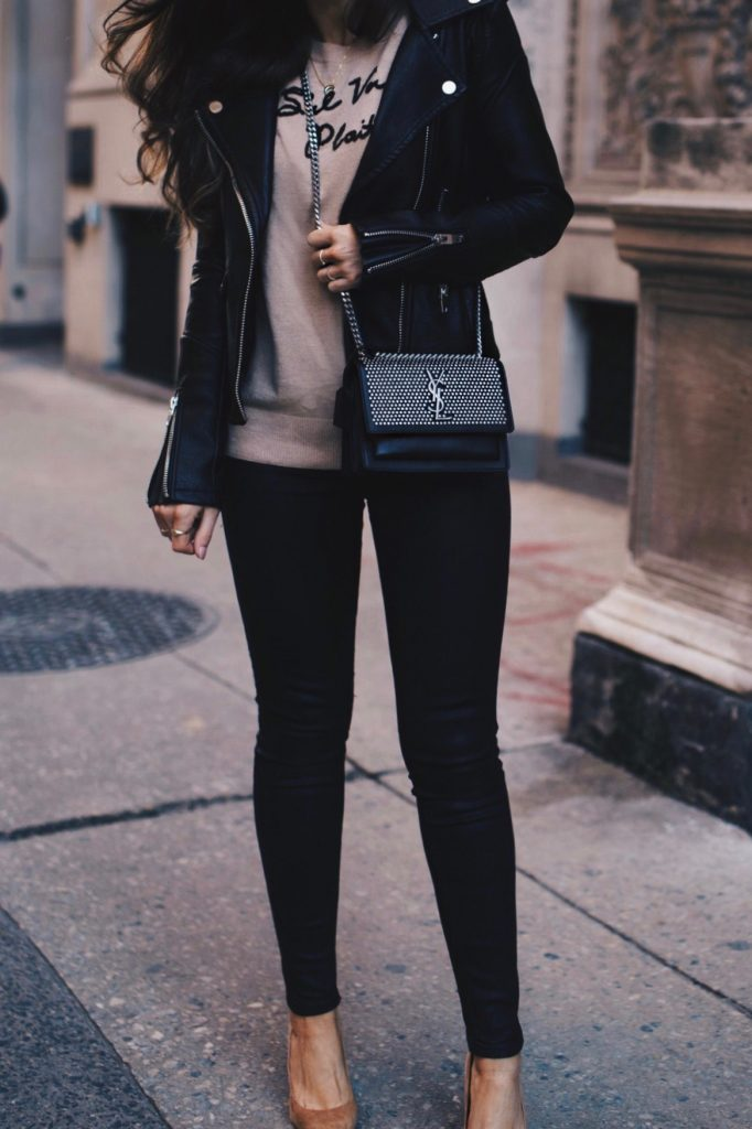 Belle by Laurelle   Captioned Sweaters, Shoes of Prey, Saint Laurent Bag