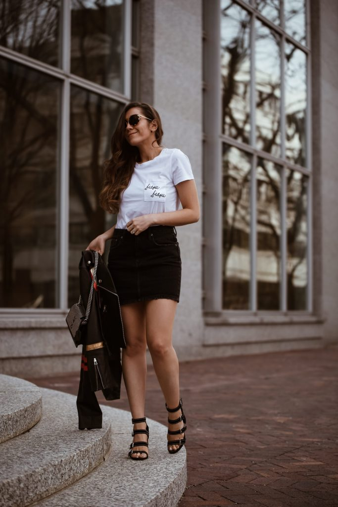 How to Style a Denim Skirt - Comfy yet Chic