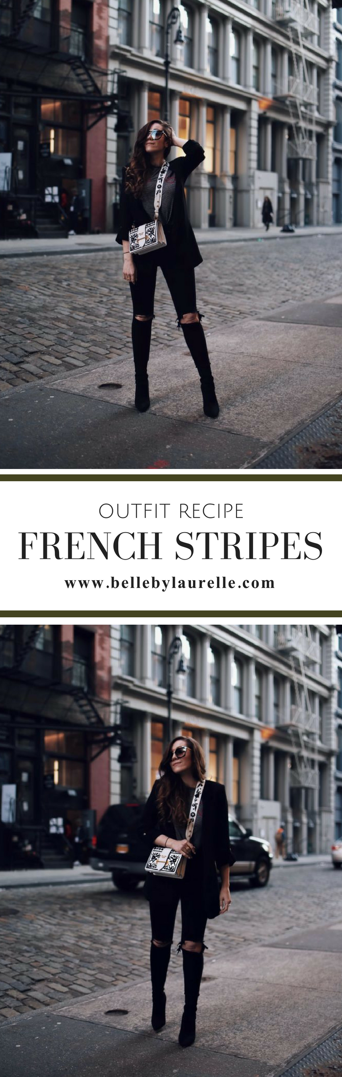 OUTFIT RECIPE FRENCH STRIPES PARIS STYLE Belle by Laurelle
