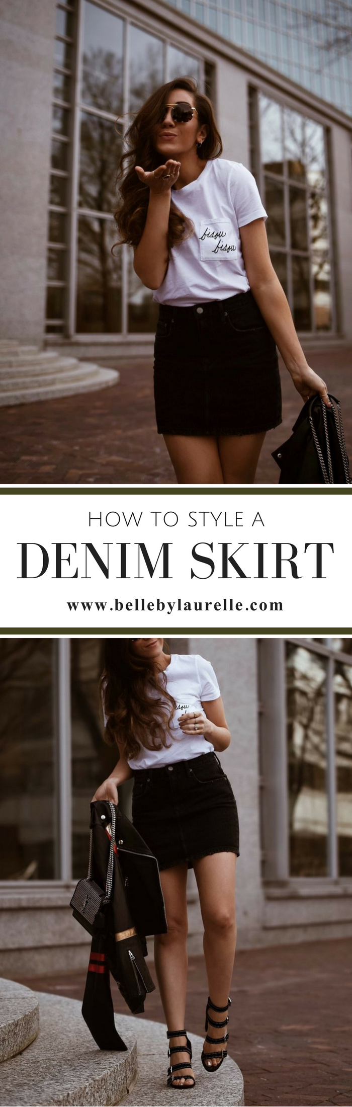 HOW TO STYLE DENIM SKIRT Belle by Laurelle