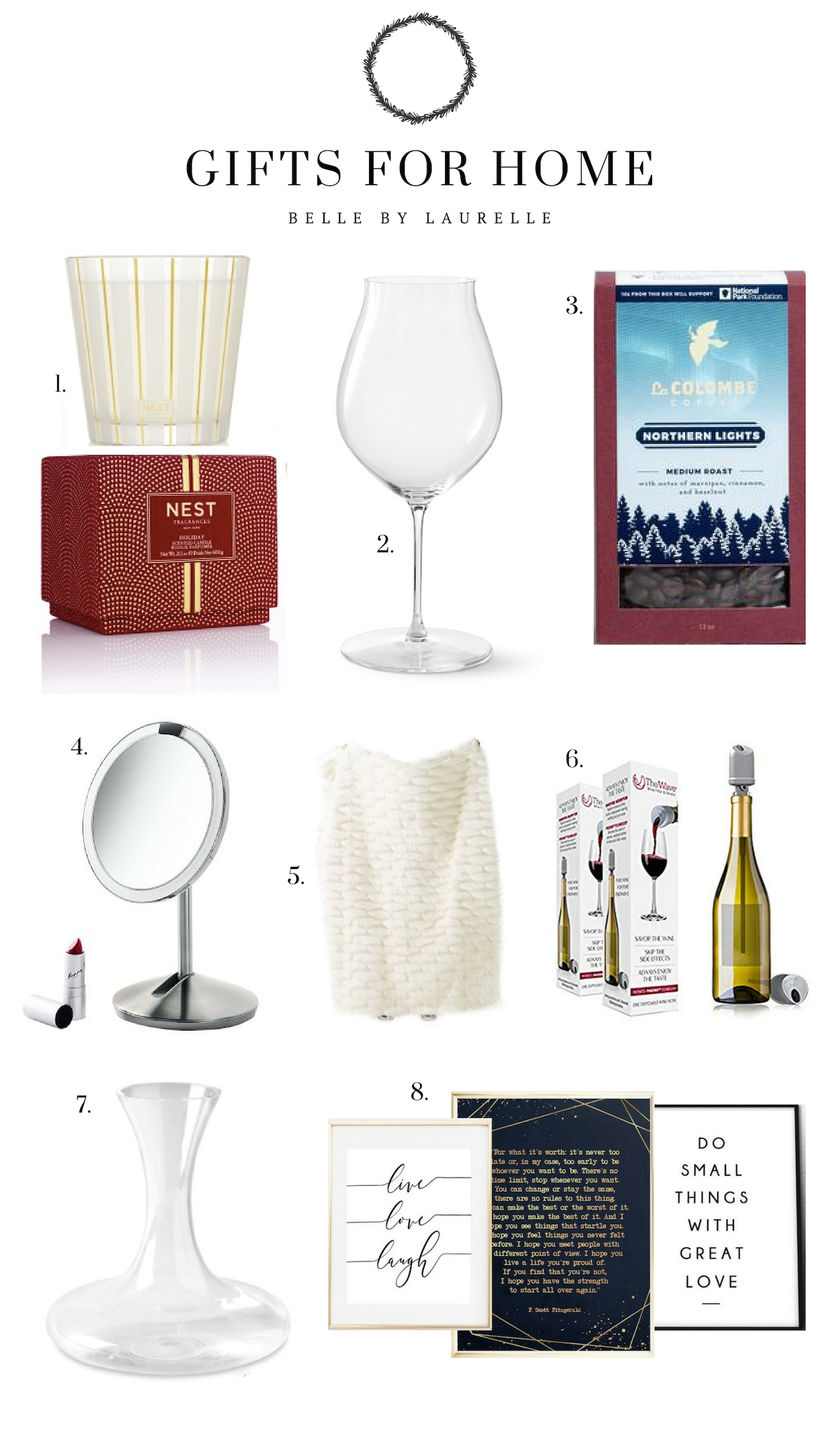 Gifts for Home Christmas Gift Guide Belle by Laurelle Fashion Blog