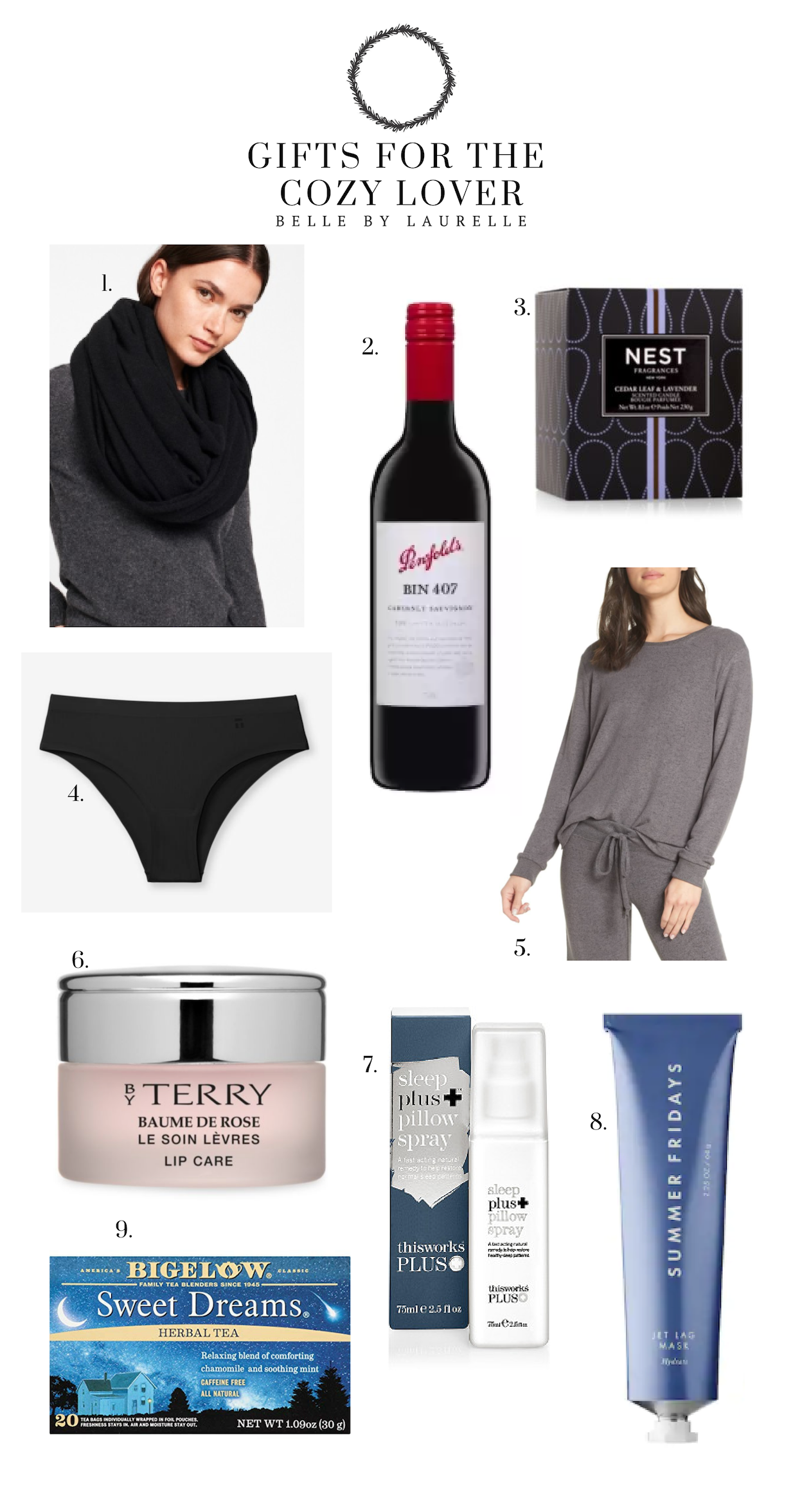 Gifts for the Cozy Lover Belle by Laurelle Fashion Blog Gift Guide