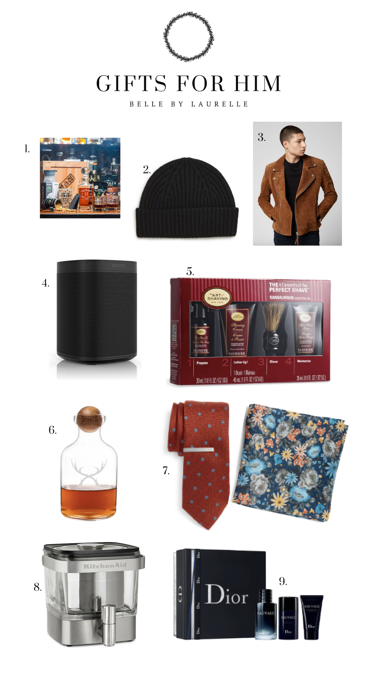 Gifts for Him Christmas Gift Guide Belle by Laurelle Fashion Blog